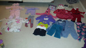 40 pieces baby girl clothes excellent condition Kitchener / Waterloo Kitchener Area image 1