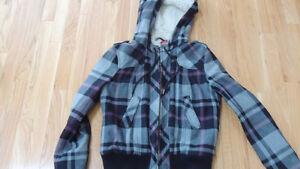 H&M Plaid Jacket with Hood