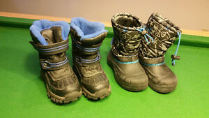 Boy's Toddler Size 11 & 12 Snow Boots - $10 for Both
