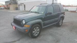 JEEP LIBERTY 4X4 *** LOW KM / CERTIFIED $5995 *** 100% APPROVED