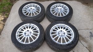 4x100  16 inch rims with lots of rubber left