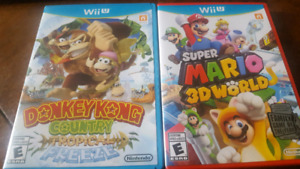 Wii U games-Donkey Kong Tropical Freeze and Super Mario 3D World
