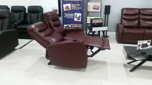 Electric recliners for 2 on sale. Set for $499.99