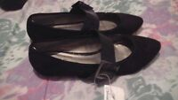 NEW with tags ladies black shoes size 9 $3 OR both for $5