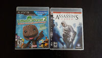 Assassins Creed & Little Big Planet 2 for PS3 & PlayStation Move