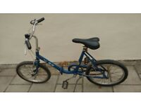 Folding Bike Blue Vintage bicycle