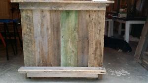 custom built indoor/outdoor bar - from reclaimed barn materials