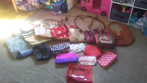 Purses and makeup bags