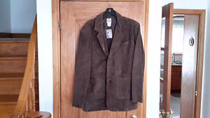 Sale Price New  Mens Size 42 Suede 3 Button Brown Jacket