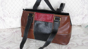 Assorted soft leather and patent leather purses