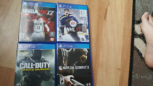 PlayStation 4 games like new.