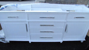 New! Wood Cabinet (with Countertop white marble