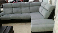 4 piece  reclining sectional with attachable ottoman-can deliver