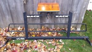 Pickup Truck Back Rack with plow light
