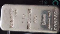 1 kg. Kaloti Dubai silver bar/coin 99.9% pure
