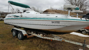 "SOLD Hurricane Deck Boat 23' 2"" Fun Deck SOLD"