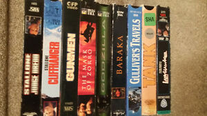 VHS Action Adventure Tapes