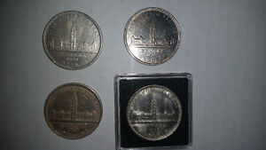 6 RARE silver dollars only $150 1939×4 1947 1962 mint...........