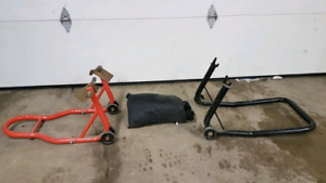 front and rear stand for race bike plus cover