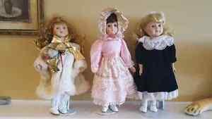 For sale: 3 porcelain dolls St. John's Newfoundland image 1