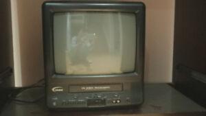 Mini TV with tape recorder