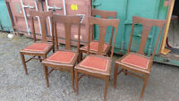 5 Antique Dining Room Chairs