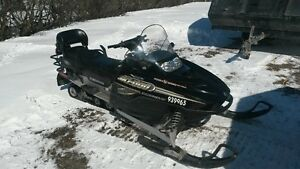 2 up snowmobile