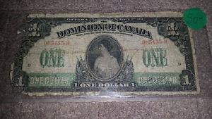 1917 canadian 1$ bill very rare!! only 50$ see my other ads!!!!! London Ontario image 1