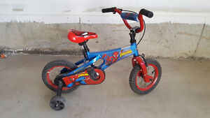 Boy's Spiderman Bike (12 inches) with training wheels - $30