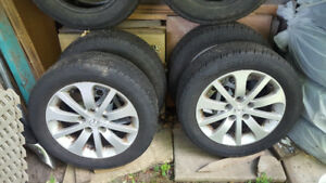 Mazda 5 Wheels with Cooper M&S tires