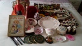 Job Lot of Items including Vintage All boxed up for collection at door
