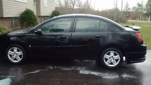 2007 Saturn ION black Sedan