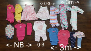 NB, 0-3m, 3 Month Girls Clothes