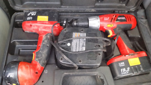 19.2v Craftsman  Comes with light and drill and charger and case