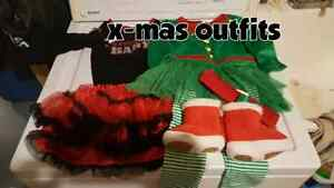 Christmas Outfits 6-12months