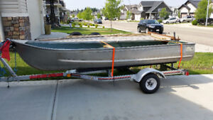 Sears 12ft. Aluminum Boat with 2016 Trailer