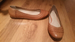 Andrew gelled leather flats