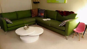 IKEA KARLSTAD GREEN LARGE SECTIONAL