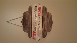 Life quote wooden sign