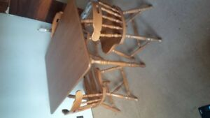 dining set 6 chairs 2 X leaf