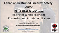 Canadian Firearms Licence Dual PAL/RPAL