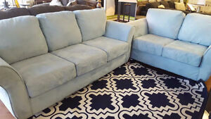 Blue Dynasty Sofa and Loveseat