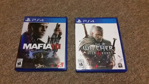 Mafia 3 and Witcher wild hunt for PS4