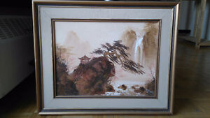 3 canvas paintings signed by S.T. Young for sale