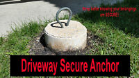 Driveway Secure Anchor! /Boats/Utility/Motorcycles and more