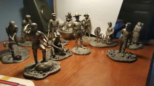 FRANKLIN MINT. PEOPLE OF CANADA. FINE PEWTER.ENTIRE COLLECTION