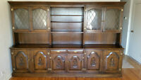 Huge Antique Wall Unit / Display Cabinet
