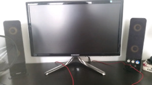 "23"" 2MS Samsung Monitor and Creative Speakers"