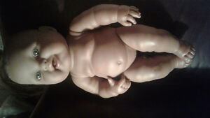 Beringer Realistic African American Baby Girl Doll