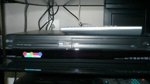 LG DVD BURNER -RW -R recorder combo with VHS